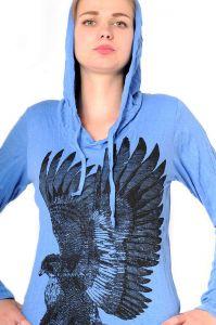 Dámská mikina Sure s kapucí Orel modrá