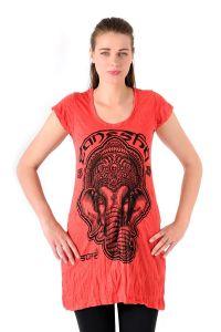 Šaty Sure mini krátký rukáv Ganesh červené - S