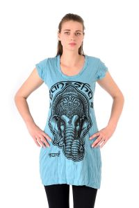 Šaty Sure mini krátký rukáv Ganesh tyrkysové | SoNo spol. s r.o.