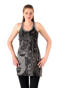 Šaty Sure mini na ramínka Buddha šedé - XL | SoNo spol. s r.o.