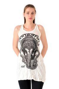 Šaty Sure mini na ramínka Ganesh bílé | SoNo spol. s r.o.