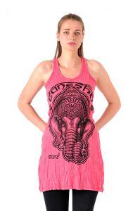 Šaty Sure mini na ramínka Ganesh růžové - L