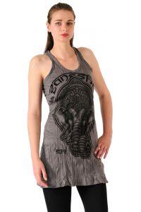 Šaty Sure na ramínka Ganesh šedé