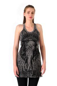 Šaty Sure mini na ramínka Slon šedé