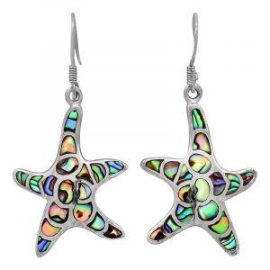 Stříbrné náušnice paua perleť Ag 5,8 g hvězdice