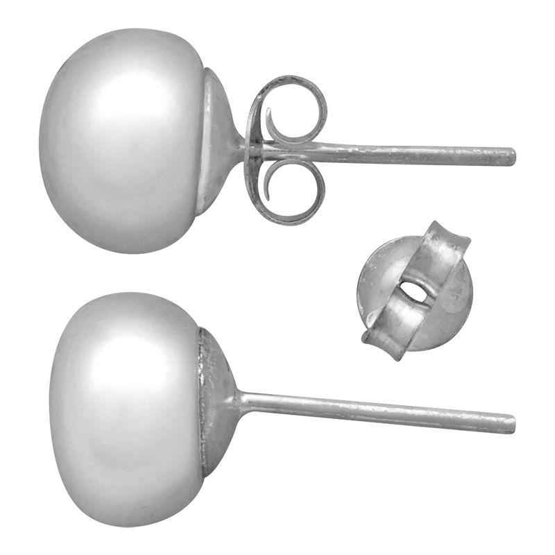 Stříbrné náušnice s pravou perlou Ag 2,0 g | SoNo spol. s r.o.