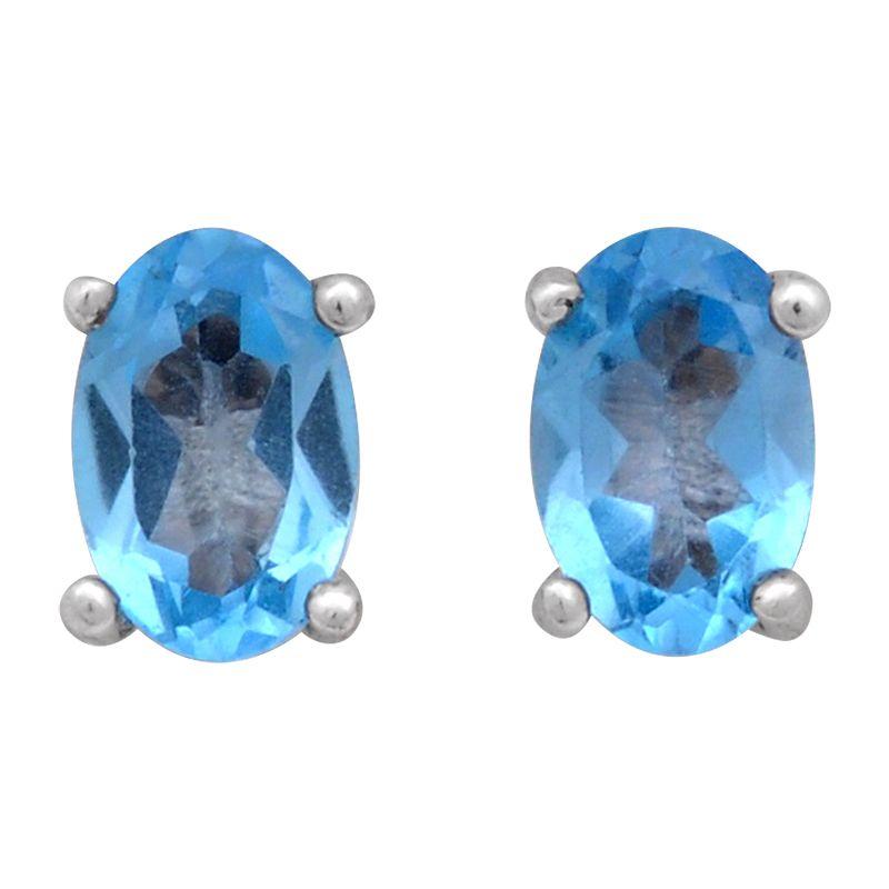 Stříbrné náušnice se Sky Blue topazem Ag 0,9 g | SoNo spol. s r.o.
