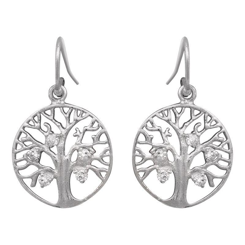 Stříbrné náušnice se zirkony Ag 3,1 g strom života | SoNo spol. s r.o.