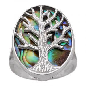Stříbrný prsten s perletí paua Ag 4,7 g strom života | SoNo spol. s r.o.