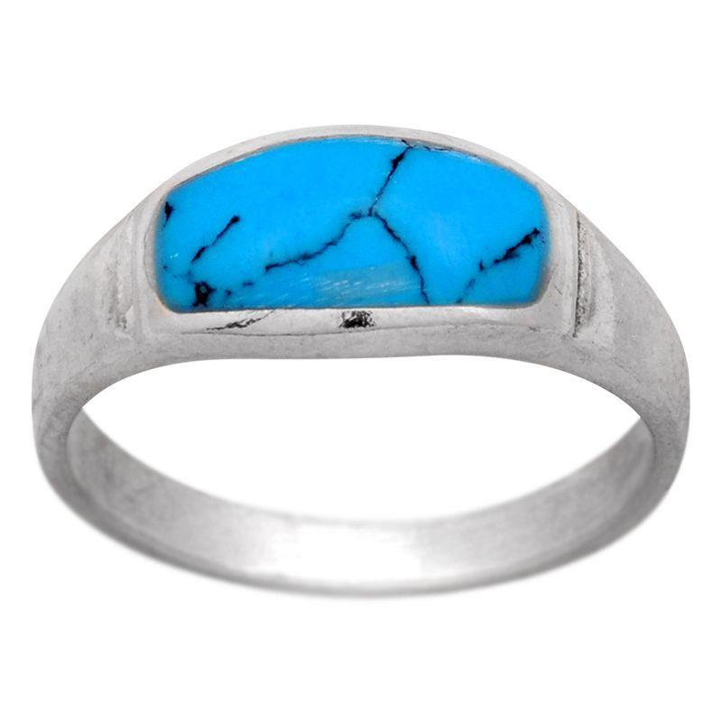 Stříbrný prsten se syntetickým tyrkysem Ag 2,7 g | SoNo spol. s r.o.