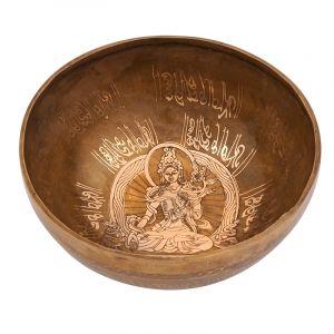 Tibetská mísa 22 cm - 1404 g zdobená Tara