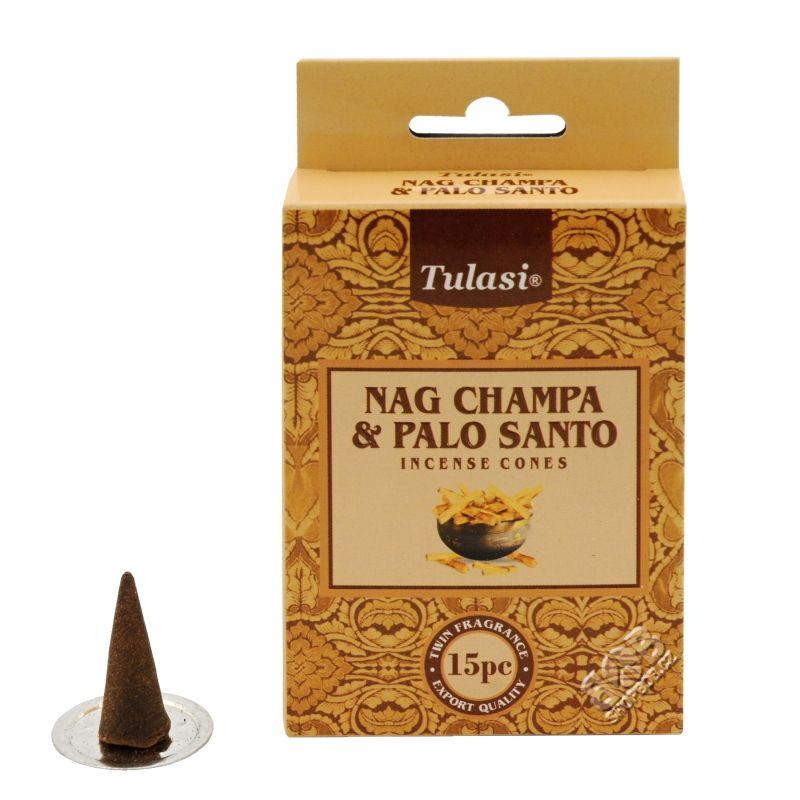 Tulasi Nag Champa Palo santo indické vonné františky 15 ks