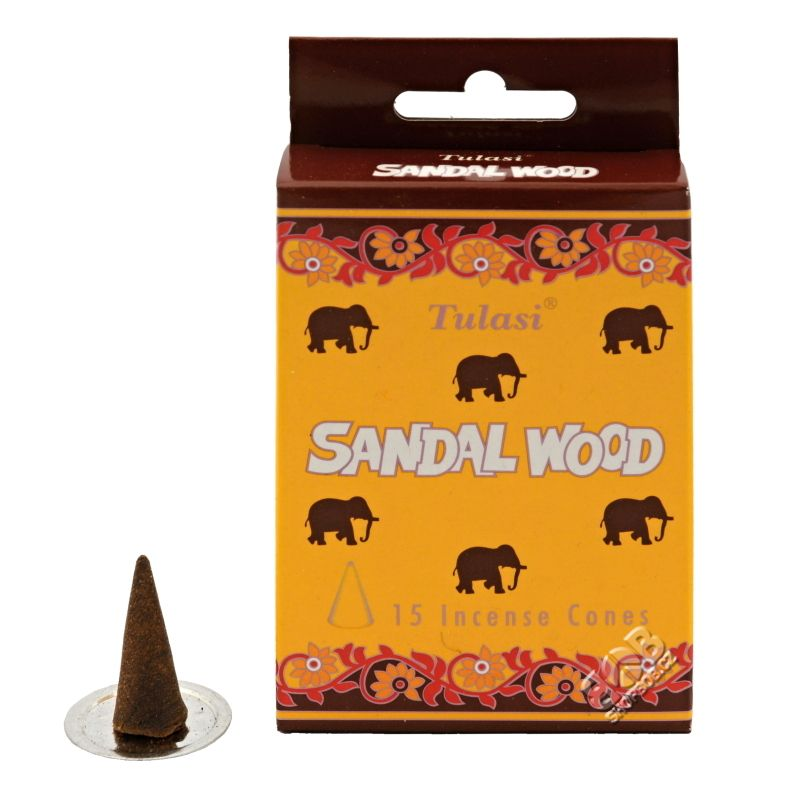 Tulasi Sandal wood indické vonné františky 15 ks   SoNo spol. s r.o.