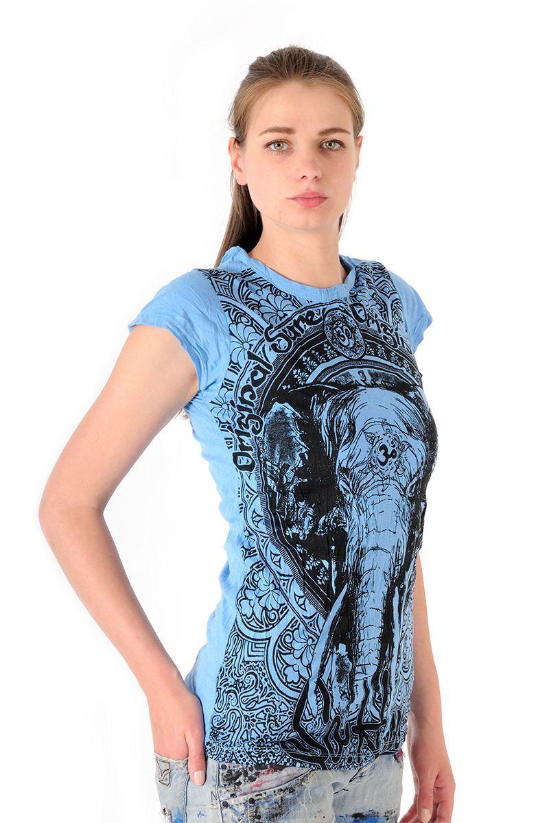 Dámské tričko Sure Slon azurové