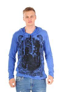 Pánská mikina Sure s kapucí Buddha inspiration modrá