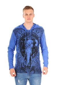 Pánská mikina Sure s kapucí Slon modrá - XL