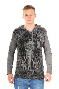 Pánská mikina Sure s kapucí Slon šedá - L