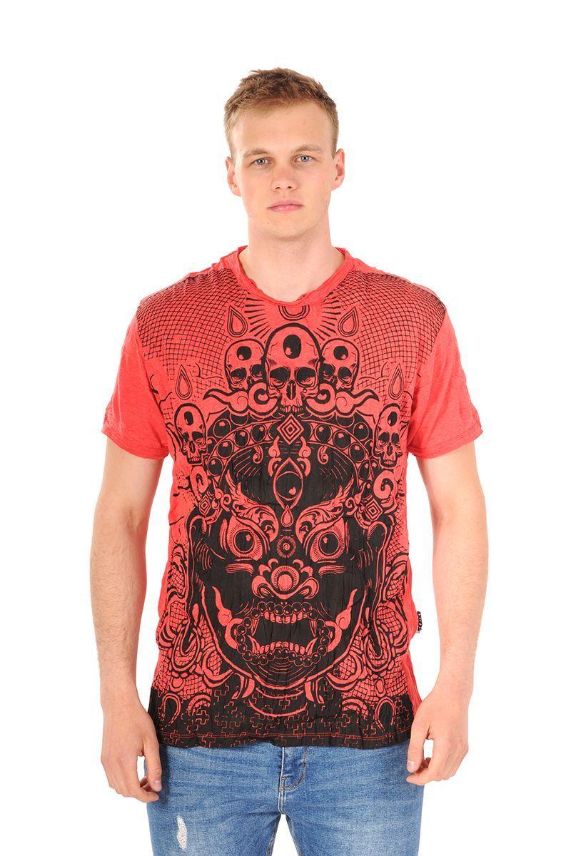 Pánské tričko Sure Bhairab červené - M
