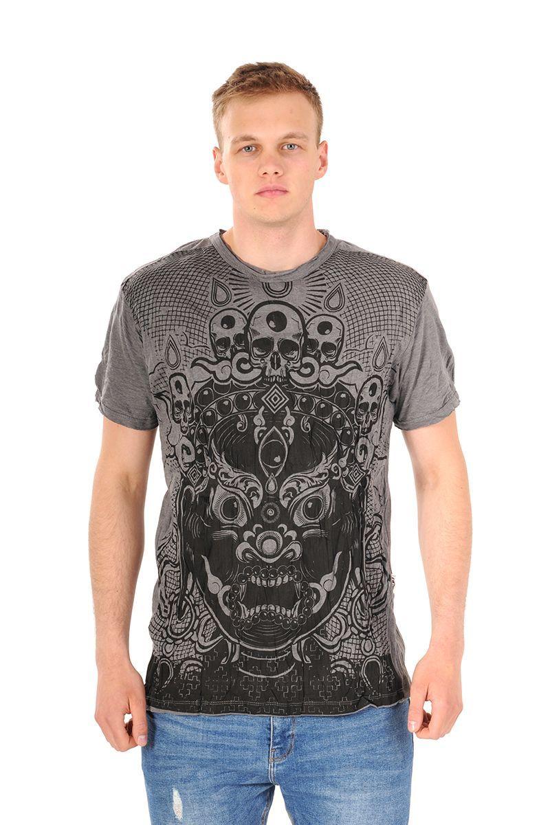 Pánské tričko Sure Bhairab šedé