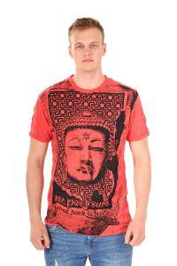 Pánské tričko Sure Buddha červené