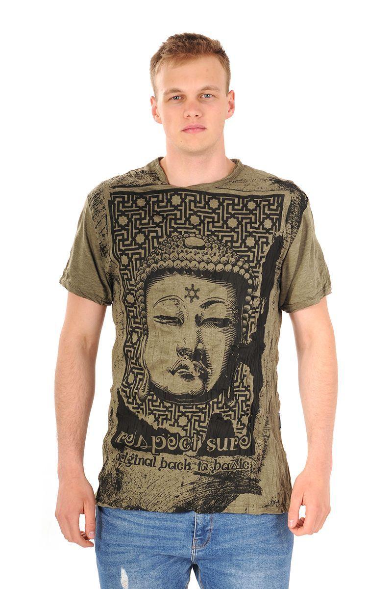 Pánské tričko Sure Buddha khaki