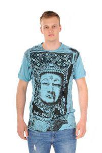 Pánské tričko Sure Buddha tyrkysové - M | SoNo spol. s r.o.