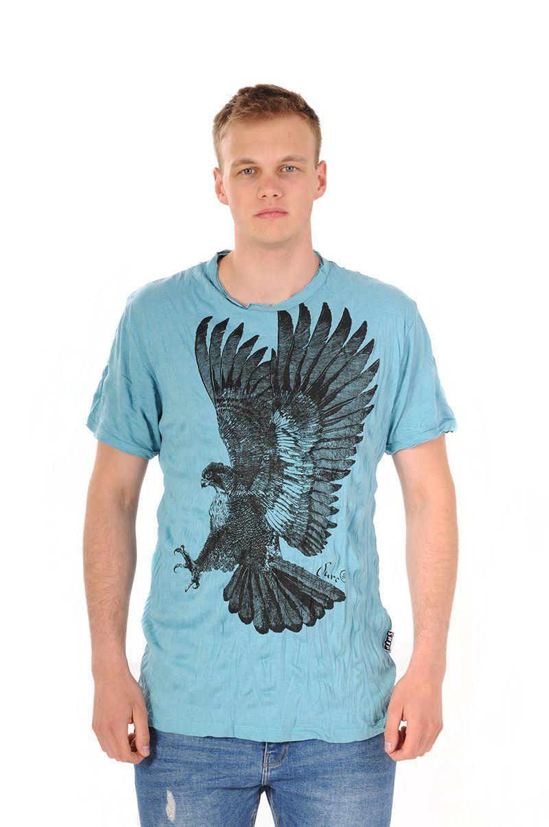 Pánské tričko Sure Orel tyrkysové - L | SoNo spol. s r.o.