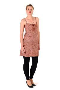 Šaty BOB Tali na ramínka Paisley fialovo-růžové