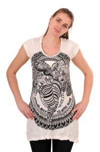 Šaty Sure krátký rukáv Dva sloni bílé