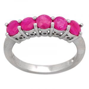 Stříbrný prsten rubíny Ag 3,4 g