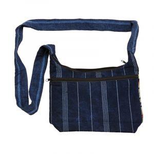 Dámská bavlněná taška přes rameno vyšívaná barevná 23 x 30 cm | SoNo spol. s r.o.