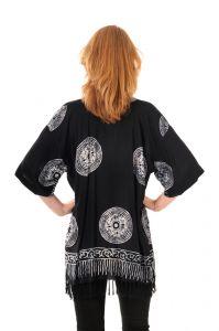 Dámská halenka batikovaná BOB Mandala černo-bílá | SoNo spol. s r.o.