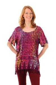 Dámská halenka batikovaná BOB Neobaju Kolibřík fialová