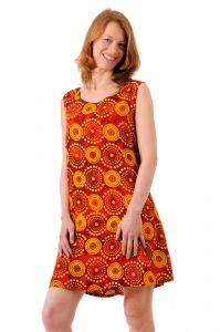 Šaty BOB Bolong mini Louka červeno-žluté | SoNo spol. s r.o.
