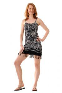 Šaty BOB Neorombe na ramínka Floral paisley černé