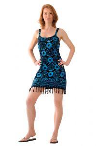 Šaty BOB Neorombe na ramínka Louka černo-modré