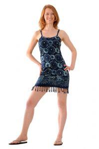 Šaty BOB Neorombe na ramínka Louka modré