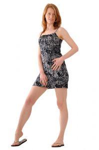 Šaty BOB Tali na ramínka Floral paisley černé
