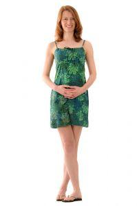Šaty BOB Tali na ramínka Listy zelené