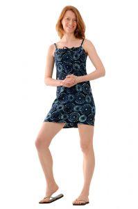 Šaty BOB Tali na ramínka Louka modré