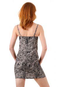 Šaty BOB Batik Tali mini na ramínka Paisley černo-bílé | SoNo spol. s r.o.