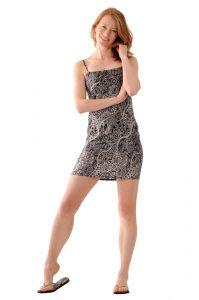 Šaty BOB Tali na ramínka Paisley černé