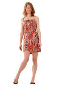 Šaty BOB Tali na ramínka Paisley červené