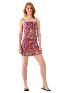 Šaty BOB Tali na ramínka Paisley fialové
