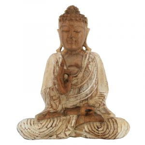 Soška Buddha dřevo 20 cm bar Vitarka