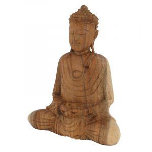 Soška Buddha dřevo 20 cm sv Dhyan | SoNo spol. s r.o.