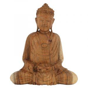 Soška Buddha dřevo 20 cm sv Dhyan