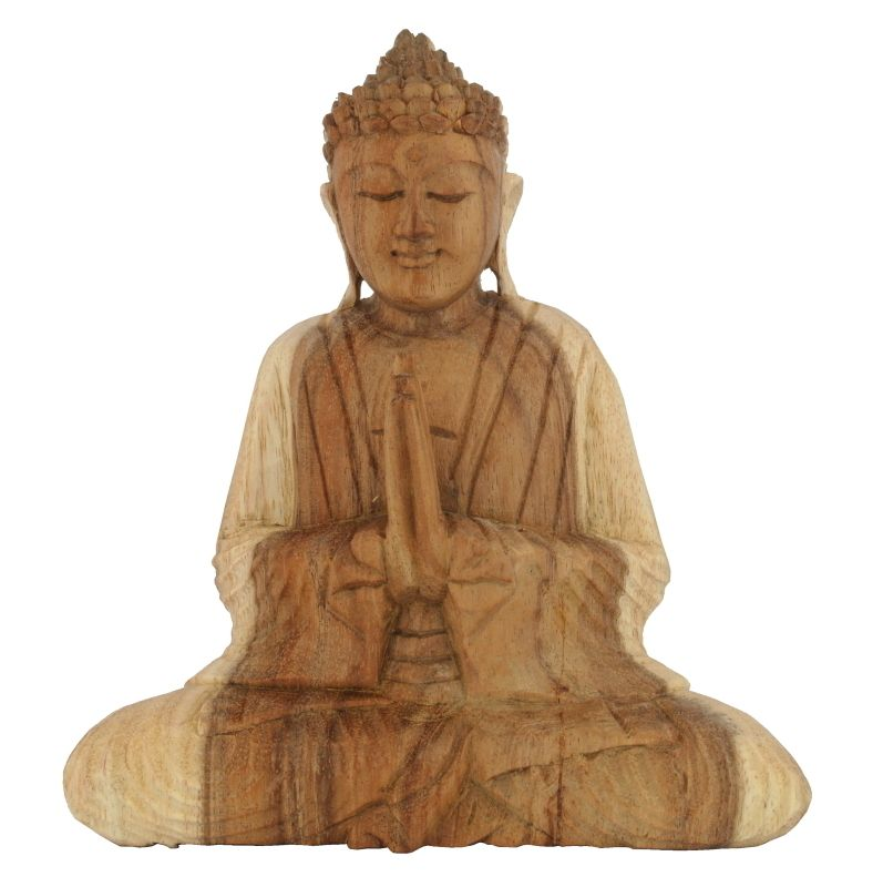 Soška Buddha dřevo 20 cm sv Namaskara | SoNo spol. s r.o.