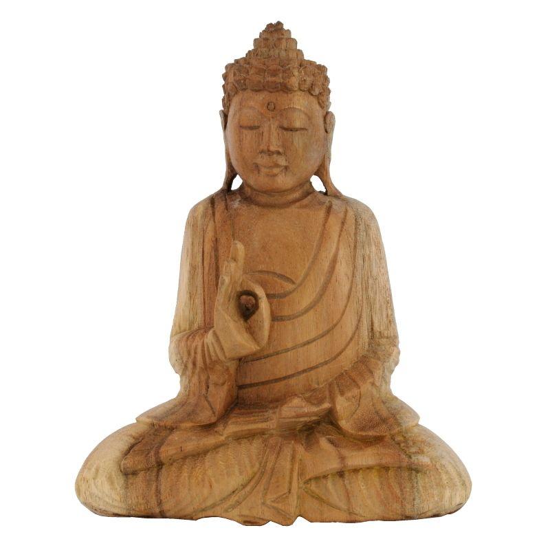 Soška Buddha dřevo 20 cm sv Vitarka | SoNo spol. s r.o.