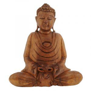 Soška Buddha dřevo 20 cm tm Dhyan